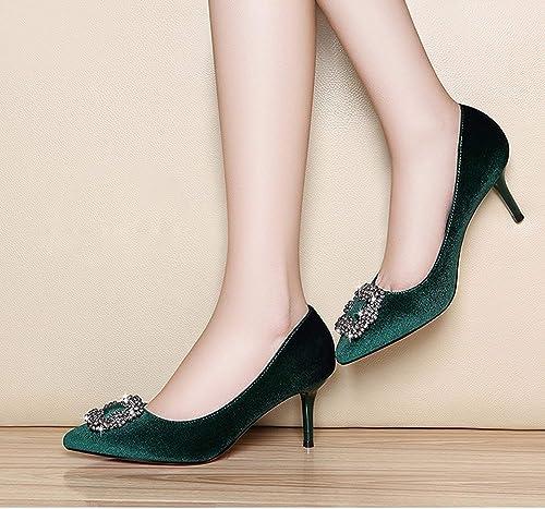 Oudan Astuce Bien avec des Chaussures Chaussures Chaussures Chaussures Simples Talon compensé Chaussures Quasi-mère à Talons Hauts (Couleuré   Noir, Taille   39) 004