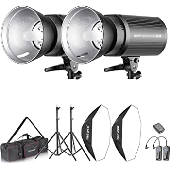 Light Stand, Neewer 1200W Studio Strobe Flash Photography Lighting Kit: Softbox, 1 Q600N 2 2 Umbrella, 2 Bag for Shooting Bowens Mount Lampshade, 600W Monolight with 2.4G Wireless Trigger, 2 2