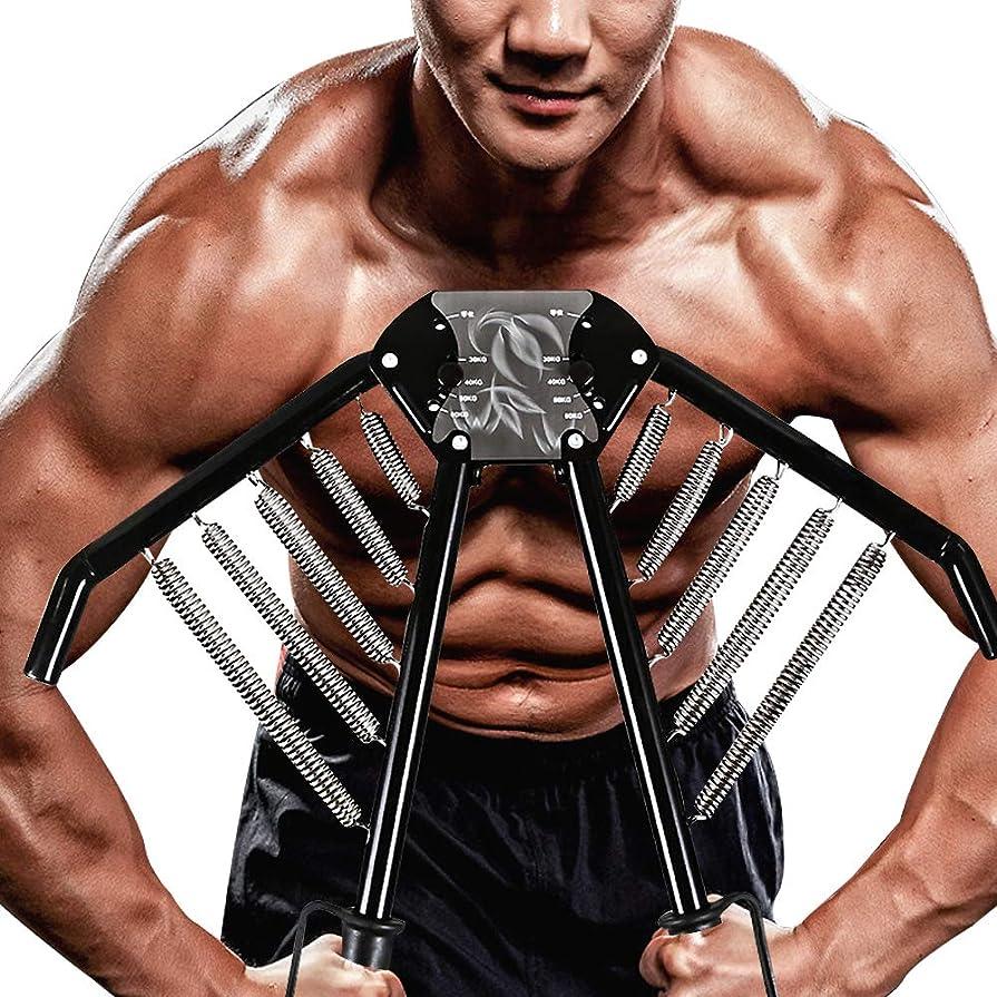 滑りやすい麻痺させるミトンCasport アームバー, 筋トレチューブ?大胸筋?腹筋?腕バー ?背筋?トレーニング器具 30kg 40kg 50kg 60kg 調整可能 日本語説明書付き