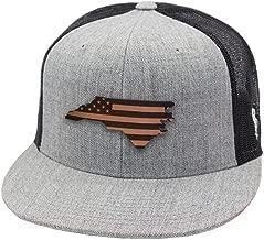 Branded Bills 'North Carolina Patriot' Leather Patch Hat Flat Trucker