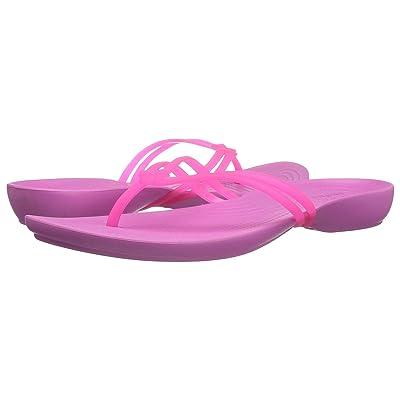 Crocs Isabella Flip (Vibrant Pink/Party Pink) Women