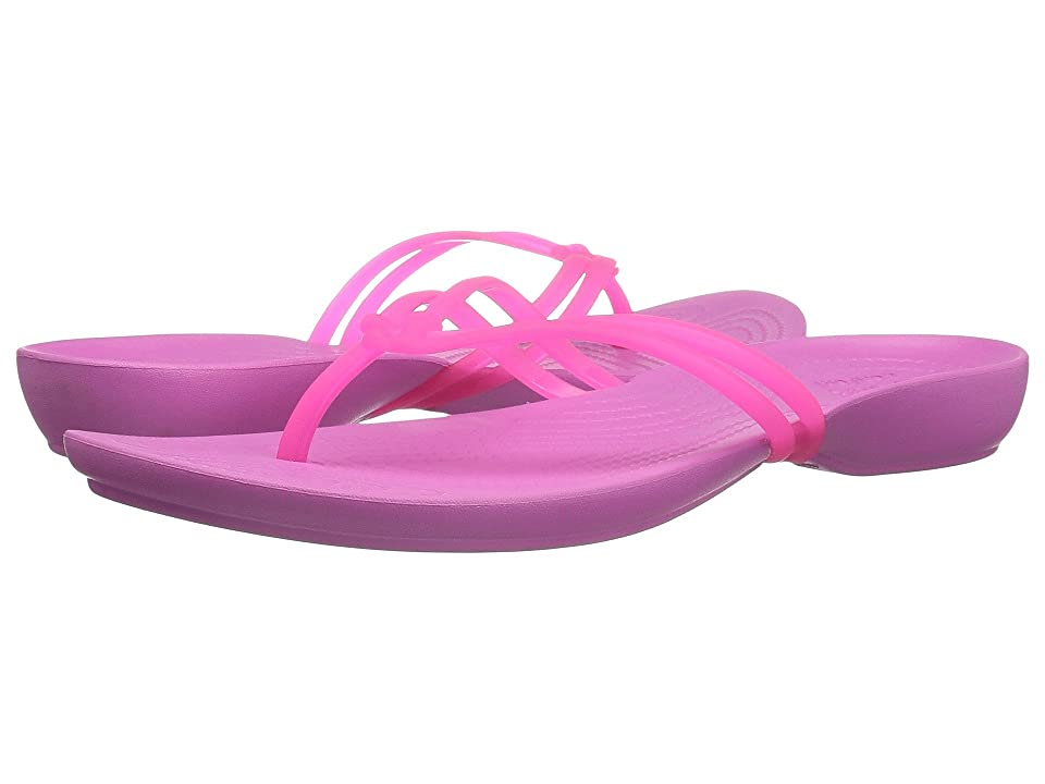 Crocs Isabella Flip (Vibrant Pink/Party Pink) Women