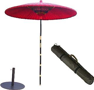 野点傘大3.5尺 野点傘用鉄製スタンド丸型 セット