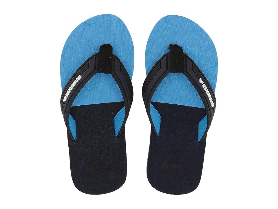 Quiksilver Kids Molokai Eclipsed Deluxe (Toddler/Little Kid/Big Kid) (Black/Grey/Blue) Boys Shoes