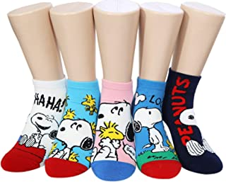 Peanuts Snoopy /& Woodstock Women and teen girls Licensed Original Character Socks Collection 4//5 Pack