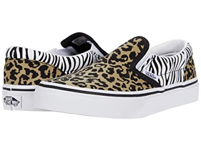 Vans Kids Classic Slip-On (Big Kid) ((Animal Mix) Leopard/Zebra) Girls Shoes