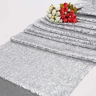silver glitter table runner