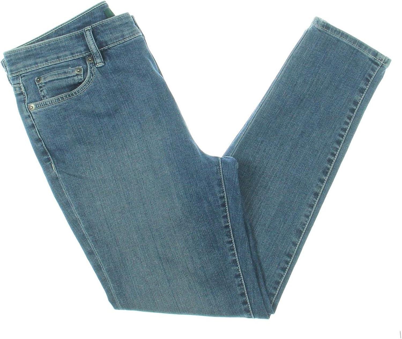 Lauren Ralph Lauren Womens Denim Cropped Skinny Jeans bluee 14