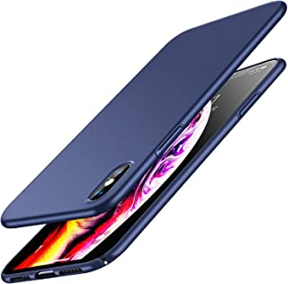 RANVOO iPhone Xs Case, Slim Fit Ultra Thin Hard Plastic Matte Minimalist Basic Cover Anti-Scratch Anti-Fingerprint Case Only for iPhone Xs 5.8 inch (2018), Blue