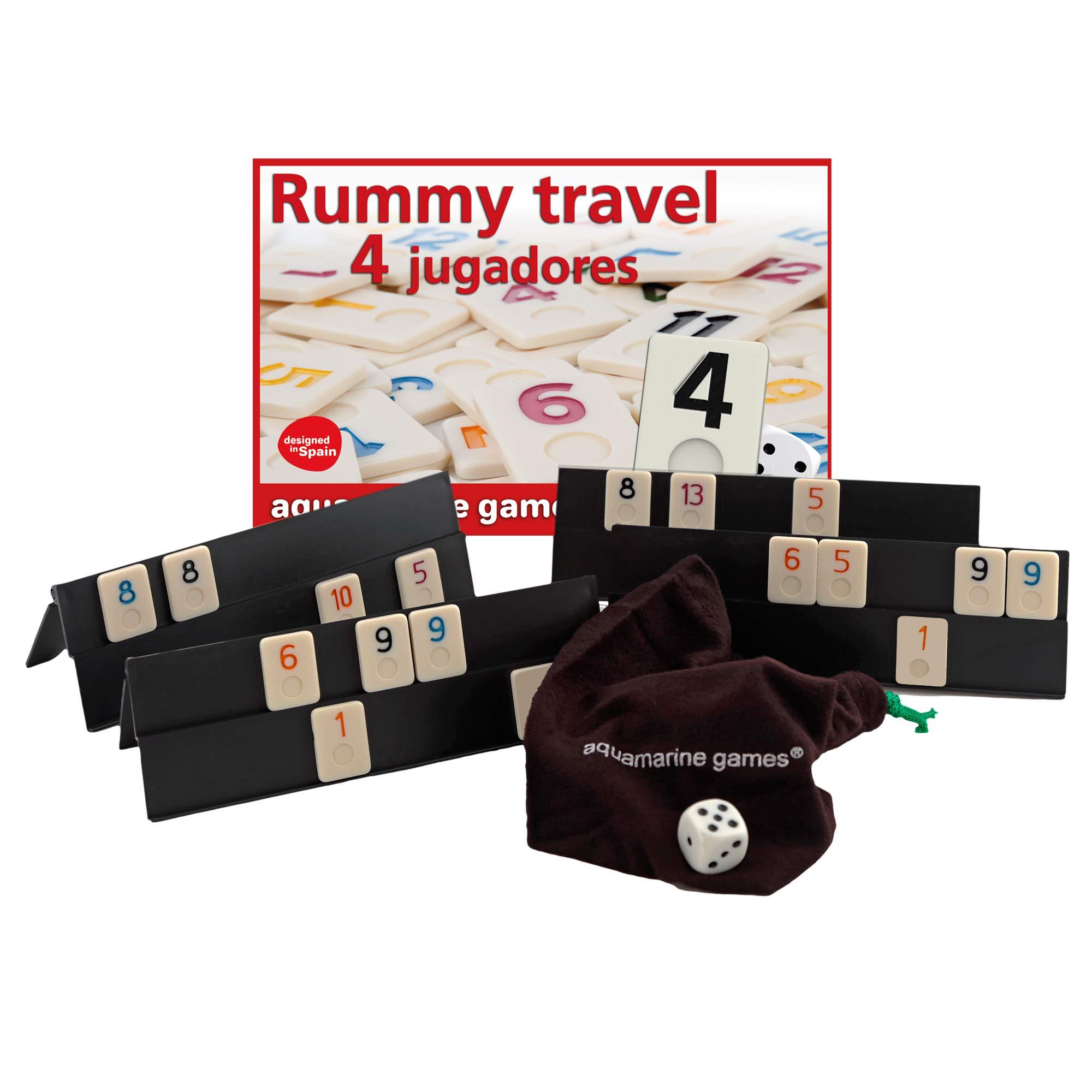 Aquamarine Games DO003 - Rummy De Viaje 4 Jugadores: Amazon.es: Juguetes y juegos
