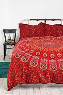 HANDICRAFT-PALACE Indian Mandala Duvet Cover Queen Size Blanket Quilt Cover Bedspread Bedding Comforter Cover Reversible with 2 Pillow Covers