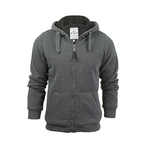 Mens Hoodie Fleece Jakcet Warm Hoodie Sweatshirt Hooded Zipper Jumper Top