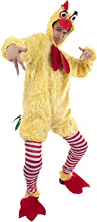 Funky Chicken Costume - Funny, Silly Unisex Halloween One-Size Suit for Adults Yellow