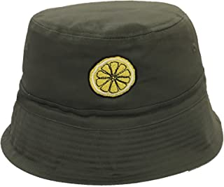 168a999133d98 Lemon (Roses) Embroidered Bucket Hat  The ...