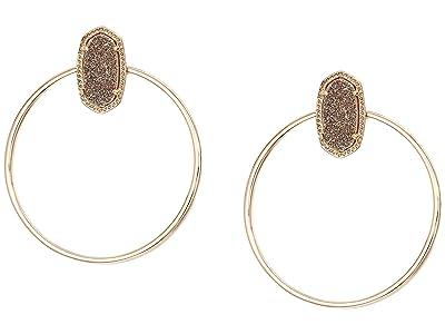 Kendra Scott Mayra Open Frame Earrings (Rose Gold/Rose Gold Drusy) Earring