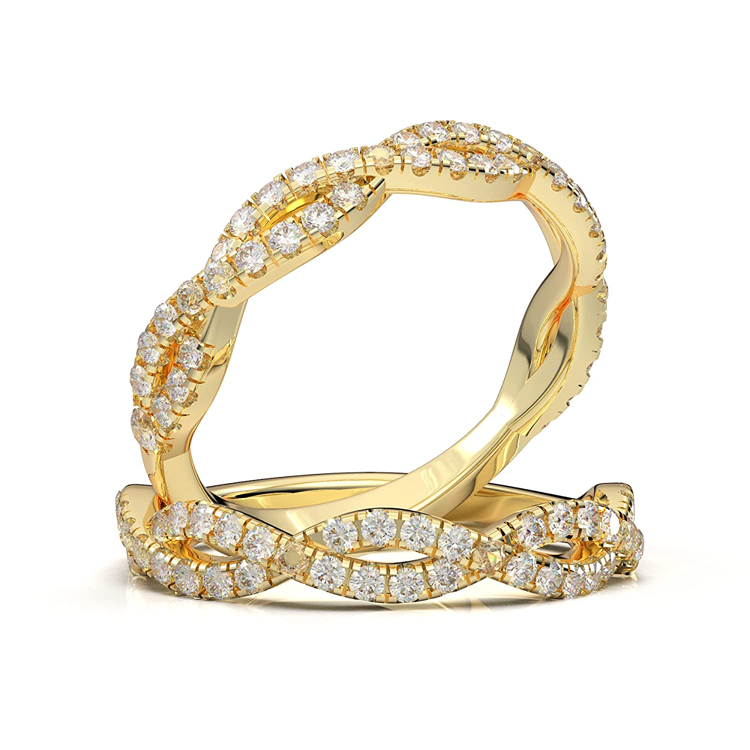 Max 73% OFF Yellow Gold Ranking TOP5 Twisted Band Ba Infinity Style Wedding
