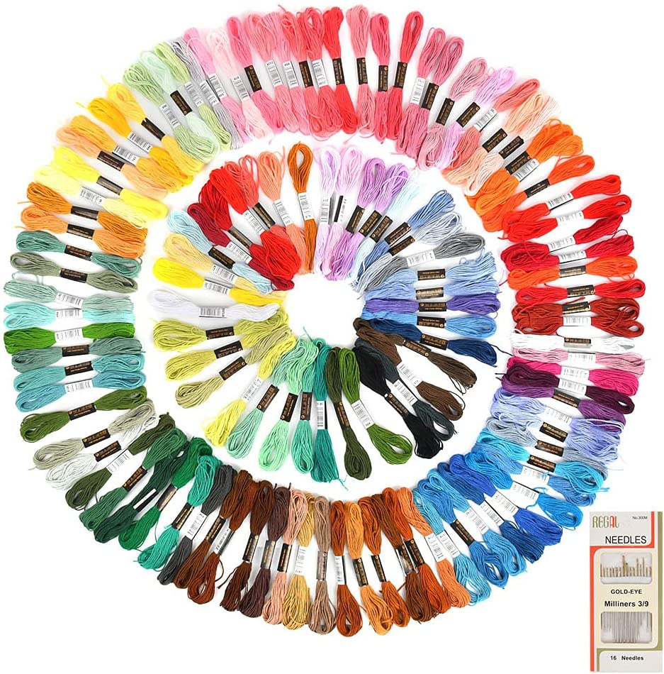 WOWOSS Embroidery Luxury goods Floss 124 Skeins Color Premium ...