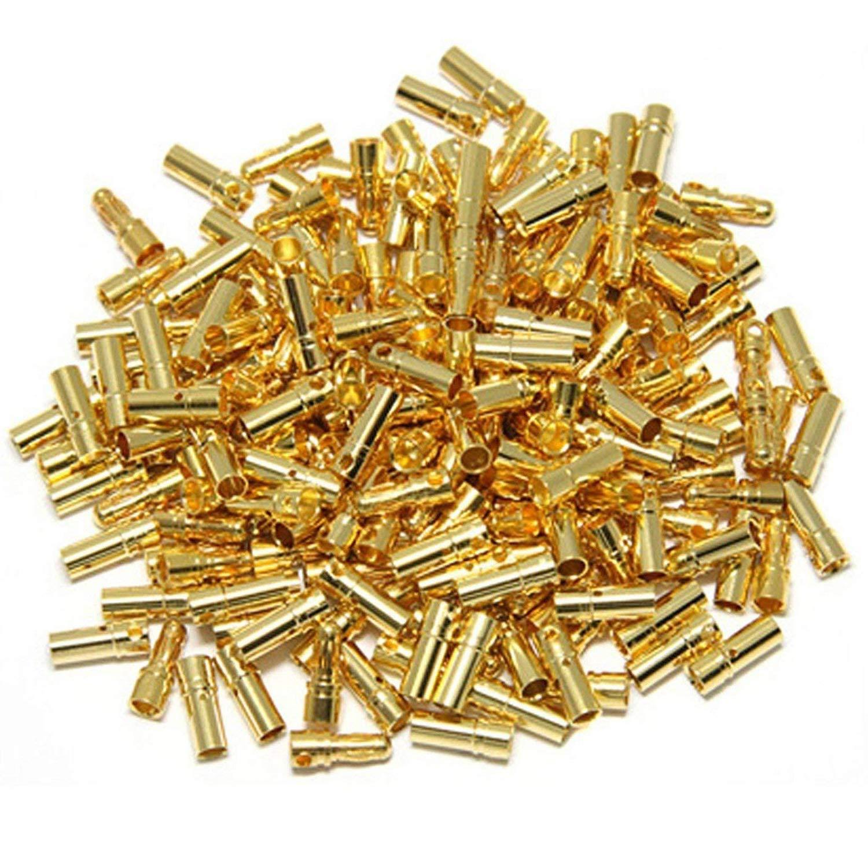 20 Pairs ShareGoo 3.5mm Male & Female Gold Banana Plug Bulle