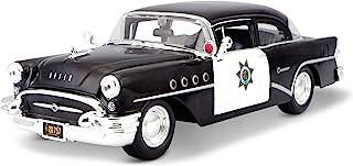 سيارة مايستو 1:26 سكول 1955 بويك سنشري ديكاست (قد تختلف الأنماط)، أسود، أبيض