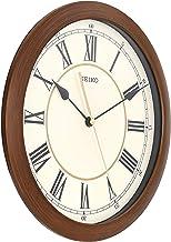 ساعة حائط (28.2 سم × 28.2 سم × 4 سم، لون بني، QXA597AN)