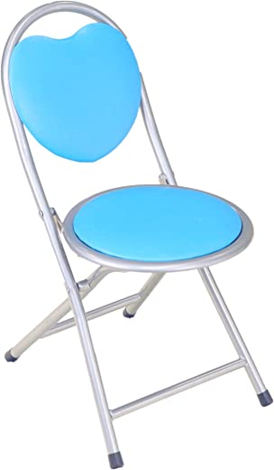 B01KOEM31K✅Frenchi Home Furnishing Kids Metal Folding Chair, Blue