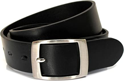 UM4 Mens Real Genuine Leather Black Belt 1.25 Wide S-L Thick Long Casual Jeans