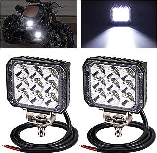 Biqing 2 SZT 3 Cale Reflektor Roboczy LED Kwadrat,27W LED Motocyklowe Dodatkowe Światła Punktowe Offroad Przednie Światła ...