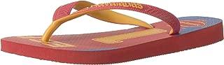 Havaianas Women's Teams III Flip Flop Sandal, Red/Yellow, 11/12 M US