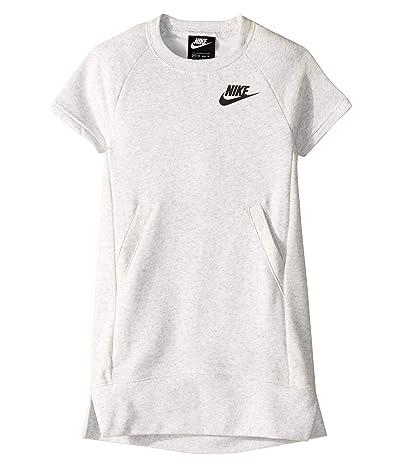 Nike Kids NSW Dress (Little Kids/Big Kids) (Birch Heather/White) Girl