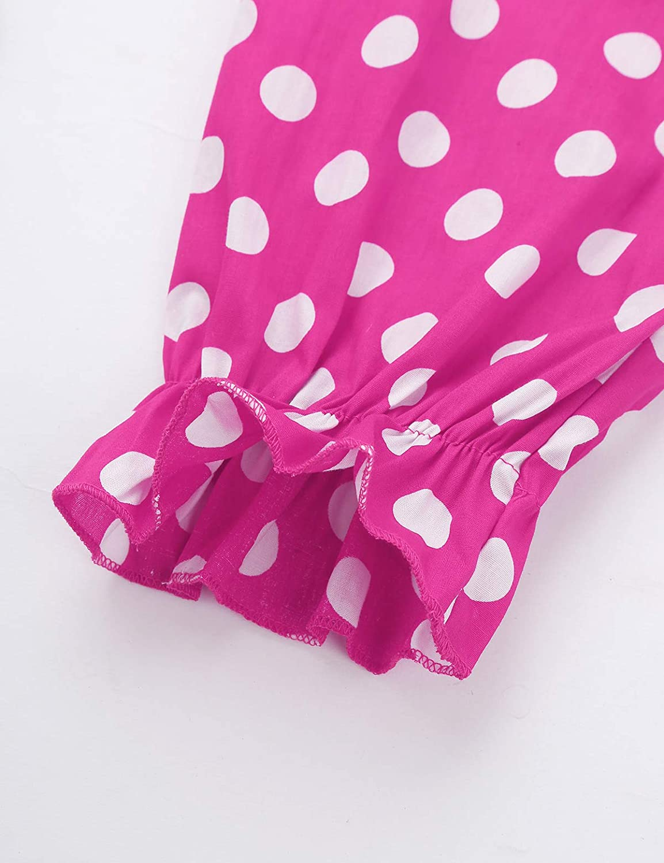 ACSUSS Kids Boys Girls Clown Costume Fancy Dress Up Casual Elastic Waist Summer Harem Bloomers Polka Dots Pant