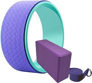 ヨガホイール ヨガブロック ヨガストラップ キット(Yoga Wheel Yoga Block Kit)