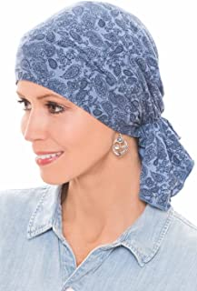 Bamboo Large Slip-On Pre-Tied Scarf-Caps for Women with Chemo Cancer Hair Loss