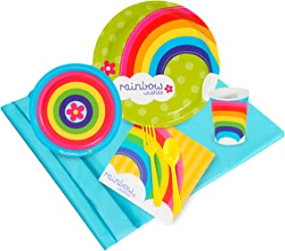 BirthdayExpress Rainbow Wishes Party Supplies - Party Pack for 24