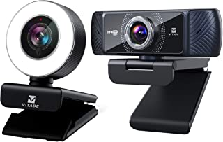 Vitade 960A PC Webcam for Streaming HD 1080P, Vitade 682H 1080P 60fps with Microphone for Streaming (Bundle-2 Items)
