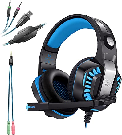 KOTION EACH G2000 USB+3.5mm Cuffie Gaming per PS4 con Microfono Cuffia da Gioco Gamer Stereo LED Luce Regolatore di Volume Noise Cancelling per Xbox One/PS4/PC/Laptop/Mac - Trova i prezzi più bassi
