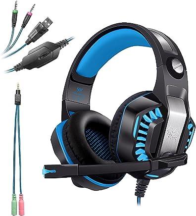 KOTION EACH G2000 USB+3.5mm Cuffie Gaming per PS4 con Microfono Cuffia da Gioco Gamer Stereo LED Luce Regolatore di Volume Noise Cancelling per Xbox One/PS4/PC/Laptop/Mac - Confronta prezzi