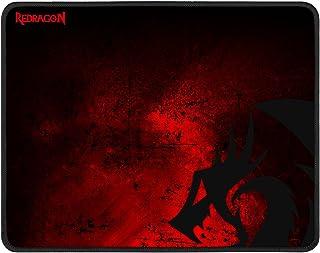 لوحة ماوس للألعاب من Redragon P016 ، مقاس كبير 33.02 × 10.16 × 0.07 بوصة، حواف مخيطة، مقاومة للماء، تصميم تنين أسود أحمر، ...