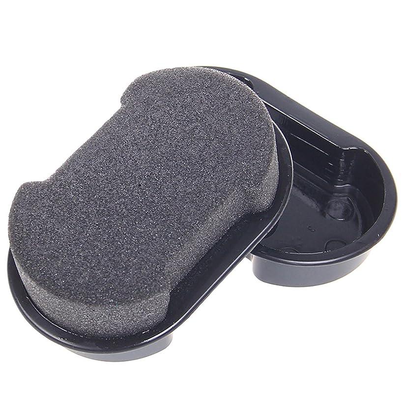 指紋寄託糞WINOMO 靴磨き スポンジ 靴ワックス 靴 ケア 革靴光沢になるブラシ ブラック