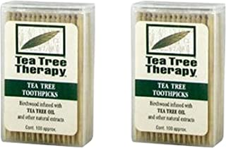 Tea Tree Therapy - Tea Tree & Menthol Toothpicks (100 Count) (2-Pack)