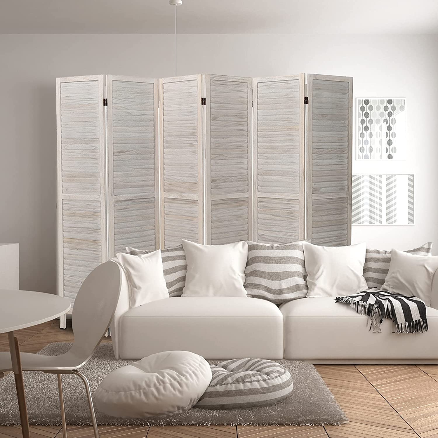 ECOMEX 6 Panel Room Divider Wood 5.6ft High quality new Tall Manufacturer direct delivery Divi Partition