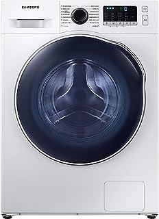 Samsung Waschtrockner WD8NK52K0AW/EG, SLIM Platzsparer - Nur 45 cm tief, SchaumAktiv-Technologie, AirWash, Hygiene-Dampfprogramm, Digital Inverter Motor, Trommelreinigung, 8/5 kg, Weiß