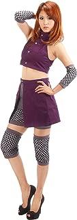 OURCOSPLAY Women's Naruto Yamanaka Ino Naruto Shippuden Cosplay Costume 5Pcs