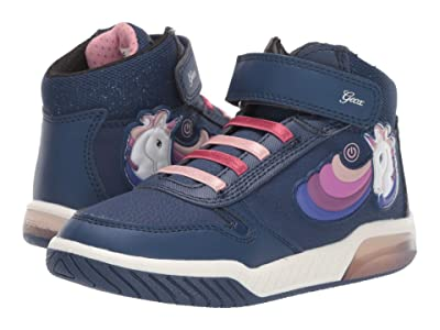 Geox Kids Jr Inek 2 (Little Kid/Big Kid) (Navy) Girls Shoes