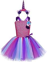 TiaoBug Disfraces Niñas de Unicornio Disfraces Princesa Infántil Fiesta Carnaval Vestido Tutú Niña con Tocado para Cosplay rol Actuación