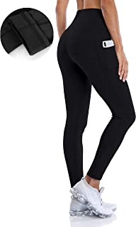 ATTRACO Thermal Fleece Lined Leggings Women High Waisted Winter Yoga Pants with Pockets
