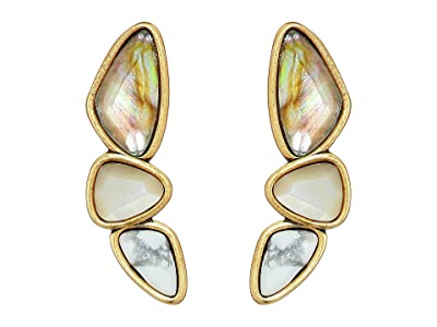 Kendra Scott Ivy Climber Earrings (Vintage Gold White Mix) Earring