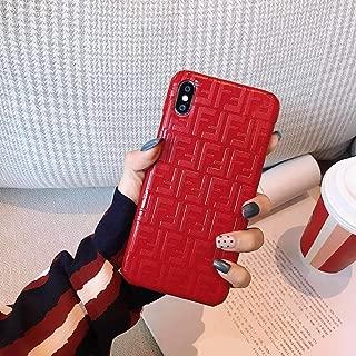 Phone Case for iPhone 8 Plus, Phone Case for iPhone 7 Plus, Fashion Luxury Classic 3D Pattern Leather Back Protective Case for iPhone 8 Plus, iPhone 7 Plus