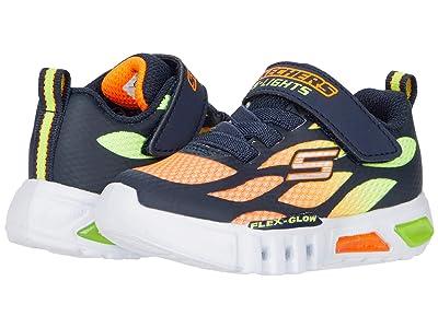 SKECHERS KIDS Sport Lighted Flex-Glow 400016N (Toddler) (Navy/Orange) Boy