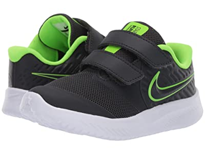 Nike Kids Star Runner 2 (Infant/Toddler) (Grey/Volt) Boys Shoes