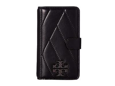 Tory Burch Chevron Folio Case For iPhone 8 (Black) Wallet